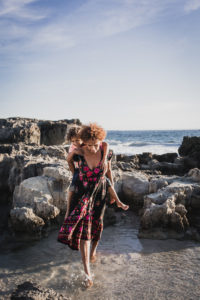 Del Mao Ibiza beach mother sons